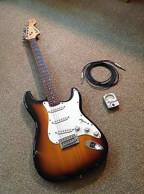 Squier Strat By Fender Electric Guitar Sunburst