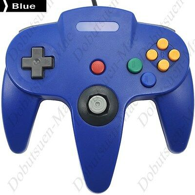 Manette joypad N64 Nintendo 64 USB Bleu Ideal Emulateur et Raspberry - NEUF