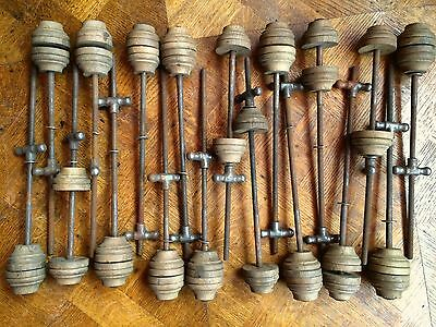 ANTIQUE OAK & STEEL SPOOL CLAMPS for LUTHIERS, INSTRUMENT & CABINET MAKERS