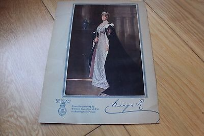 Queen Mary Signed 10X8 Portrait