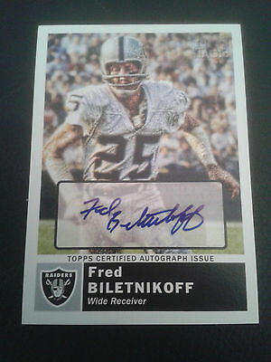 2010 Topps Magic Fred Biletnikoff Auto