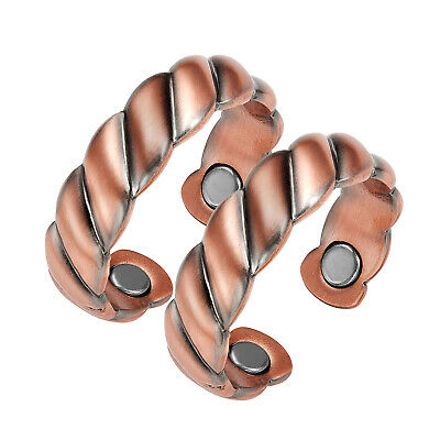Copper Magnetic Rings-Mens Womens Strong Magnetic Therapy Ring for Arthritis-RB