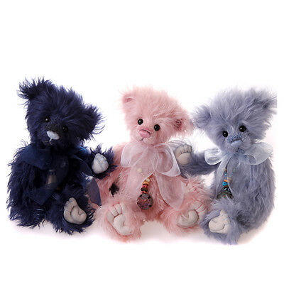 Charlie Bears Rose, Lupin and Periwinkle Isabelle Collection