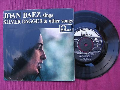 "Joan Baez  "" Sings Silver Dagger & others "" 7"" 45 vinyl E.P. 'record Issued 1960"