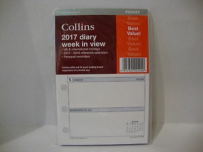 Collins Pocket Diary Refill 2017
