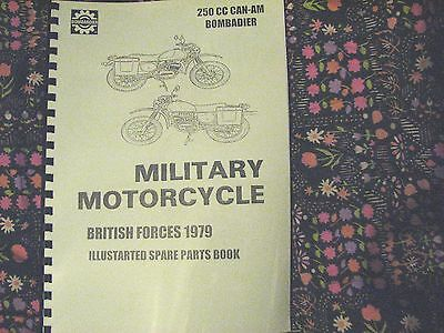 MILITARY MOTORCYCLE PARTS MANUAL CAN08 CAN-AM 250cc BOMBARDIER CANADIAN  EDN
