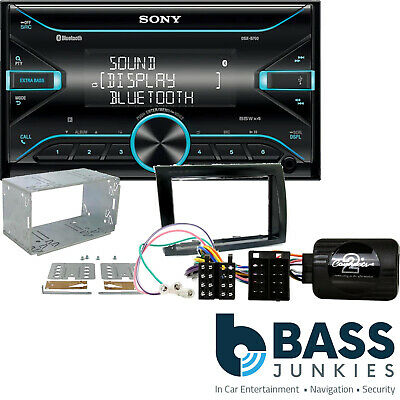 Fiat Bravo Sony AUX In Bluetooth USB Car Stereo Double Din & Steering Wheel Kit