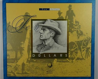 Australia $10 1993 Portfolio of pair notes with matched very low red numbers