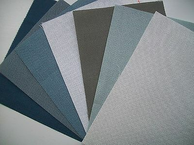 16 ct Aida Fabric - 4 pieces - Assorted colours for small / medium projects