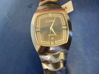 0d03d278282732 Chisel Mens Date Watch Tungsten Gold Plated Accents Roman Numerals Nos  Tpw27 New