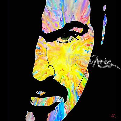Nik Tod Recreated From Original Painting Large Signed Art Rare George Michael Uk
