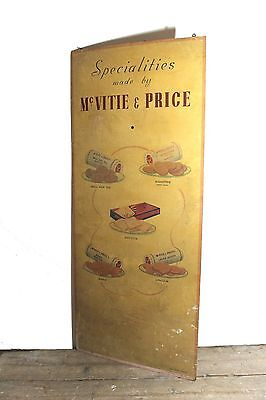 Large 1930s  painted Mcvitie & Price biscuits shop sign from Cambridge grocers