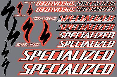 Specialized decals stickers sheet logo (cycling, mtb, bmx, road, bike) PRINTED