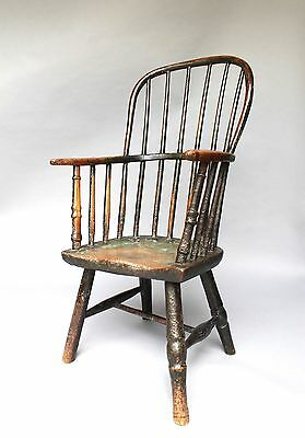 Early 19th c chair of small proportions probably west country antique primitive