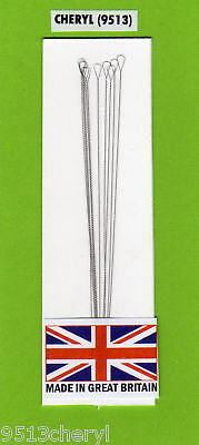 Beading Needles S/s Twisted Wire  Super Fine Large Eye  **free Post & Packing**