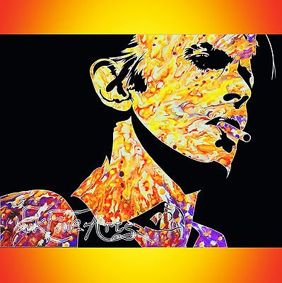 Nik Tod Recreated From Original Painting Large Signed Texture Art David Bowie Uk