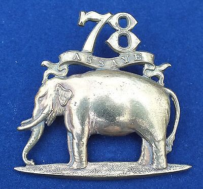 A large 78th  Ross-shire Buffs Forage Cap Badge.