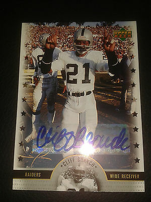 2005 Upper Deck NFL Legends Cliff Branch LS-CB Auto