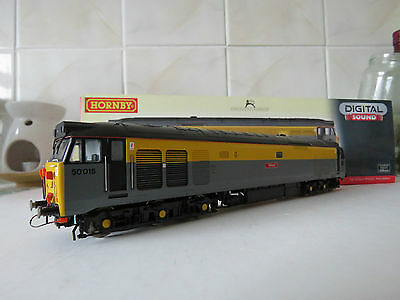 """Hornby R2802Xs Oo Gauge Class 50 018 """"valiant"""" Dcc Fitted With Sound"""