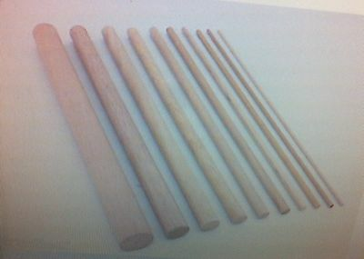 TEN X 10mm diameter hardwood dowel / craft sticks 35cm / 45 cms  sweet tree etc
