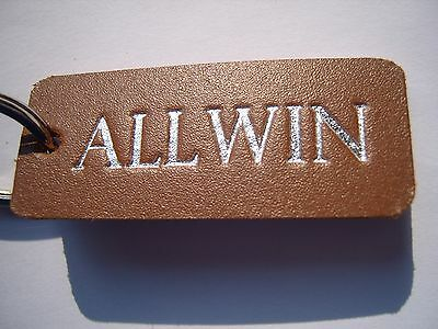 Allwin Leather Keyring Fob. For Allwin Machine