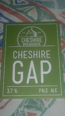 Beer pump badge clip NEW - CHESHIRE BREWHOUSE brewery CHESHIRE GAP ale UNUSED