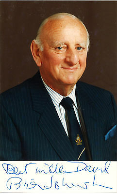 Brian Johnston - SIGNED PHOTO & LETTER - Test Match Special
