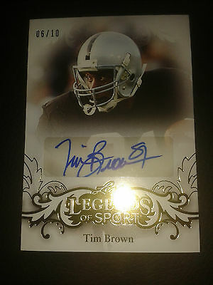 2015 Leaf Legends of Sport Tim Brown 06/10 Auto