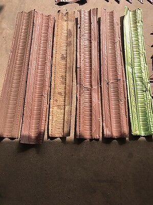 Vintage Ceiling Tin 6 Pc. Cornice  4' X 7 1/2""
