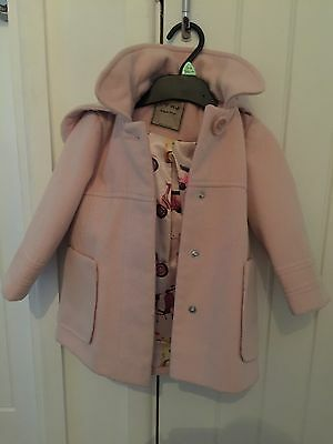 Girls NEXT Winter Coat 12-18 Months Perfect Condition Pale Pink Nude