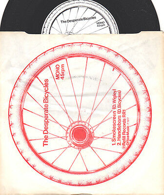 "THE DESPERATE BICYCLES Smokescreen / Handlebars 7"" single Picture sleeve Mono"