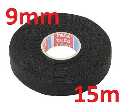 9mm x 15m TESA Tape PET FLEECE CABLE ROLL ADHESIVE CLOTH FABRIC WIRING HARNESS