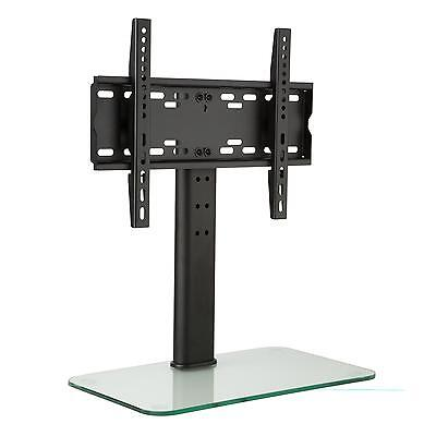 """Tv Stand With Bracket 23"""" -47 """" Height Adjusting Glass Base Monitors Plasma Lcd"""
