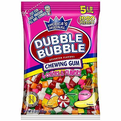 Bag Of Dubble Bubble Chew Tabs Assorted (5 lbs.)