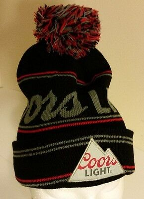 Coors Light Beer Beanie Toque Hat Mountain Logo
