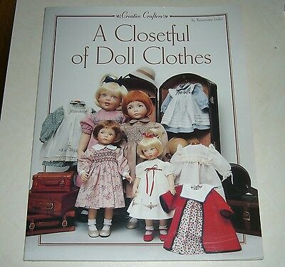 A closetful of Doll Clothes, sewing patterns by Rosemarie Lonker,2001,1st ed, SC