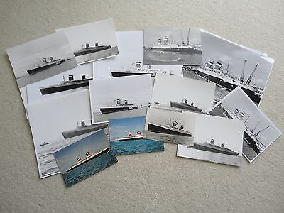 S.S. United States Photographs and Postcards B/W Various Sizes