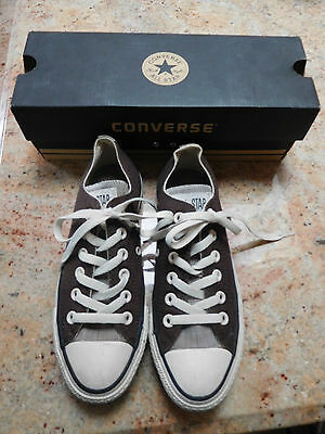 CONVERSE CHUCK TAYLOR ALL STAR CHOCOLATE LOW TOP UNISEX SHOES Men-5 Women-7-USED
