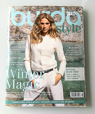 Burda Style Magazine,01/2010 Skiing Clothes, Winter Clothes, uncut Patterns,