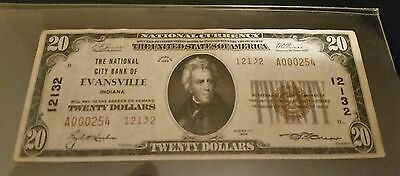 1929 20 Evansville Indiana Low Serial Number A000254 Charter 12132