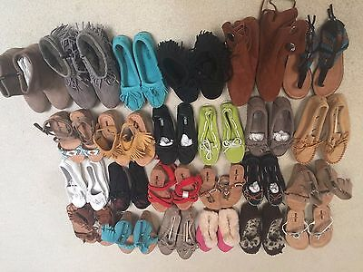 NEW Lot 25 Pair GREAT BRANDS Moccasins Sandals Wedges Heels Slippers Sizes 5-10