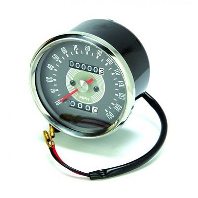 Classic Motorcycle Triumph -  Speedometer Grey face