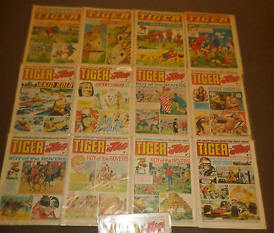 11 x Tiger And Jag  Comics 1969-1974