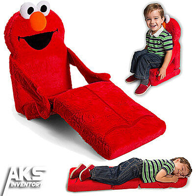 Elmo 3-in-1 Chair, Lounger & Bed Convertable Furniture Sesame Street Toddler New