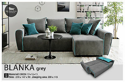 - Blanka - Brand New Corner Sofa Bed, Sleep Function more than 4 seater
