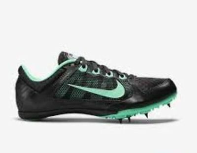 New Nike Rival Zoom Middle Distance Track Spikes Cleats Mens 6 Womens 7.5 Black