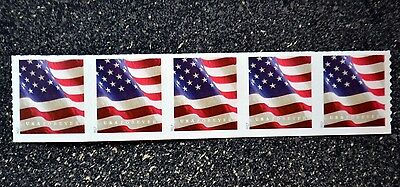 2017USA #5159 Forever U.S. Flag US - Coil Strip of 5  Mint  (APU)