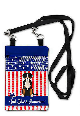 Patriotic USA Greater Swiss Mountain Dog Crossbody Bag Purse