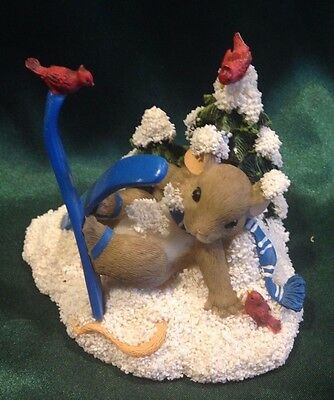 Charming Tails By Dean Griff- Figurine - X-Cellent Skier