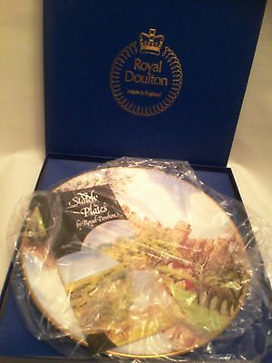 Royal Doulton LARGE PLATE - WARWICK CASTLE (From Painting)